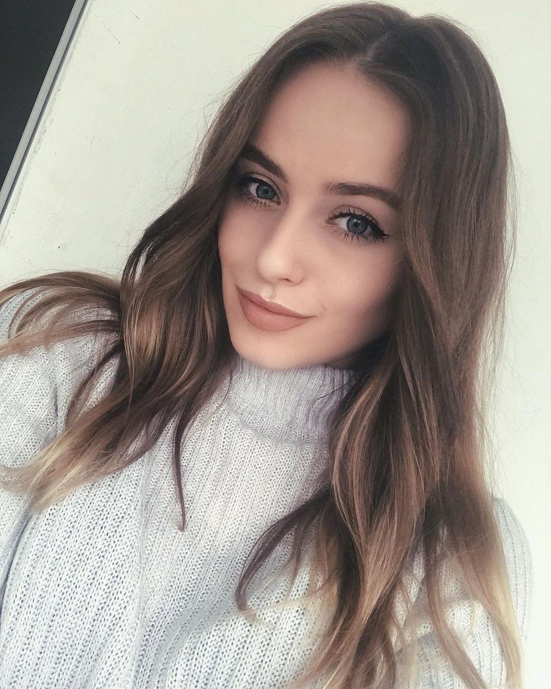 scandinavian girl with long hair