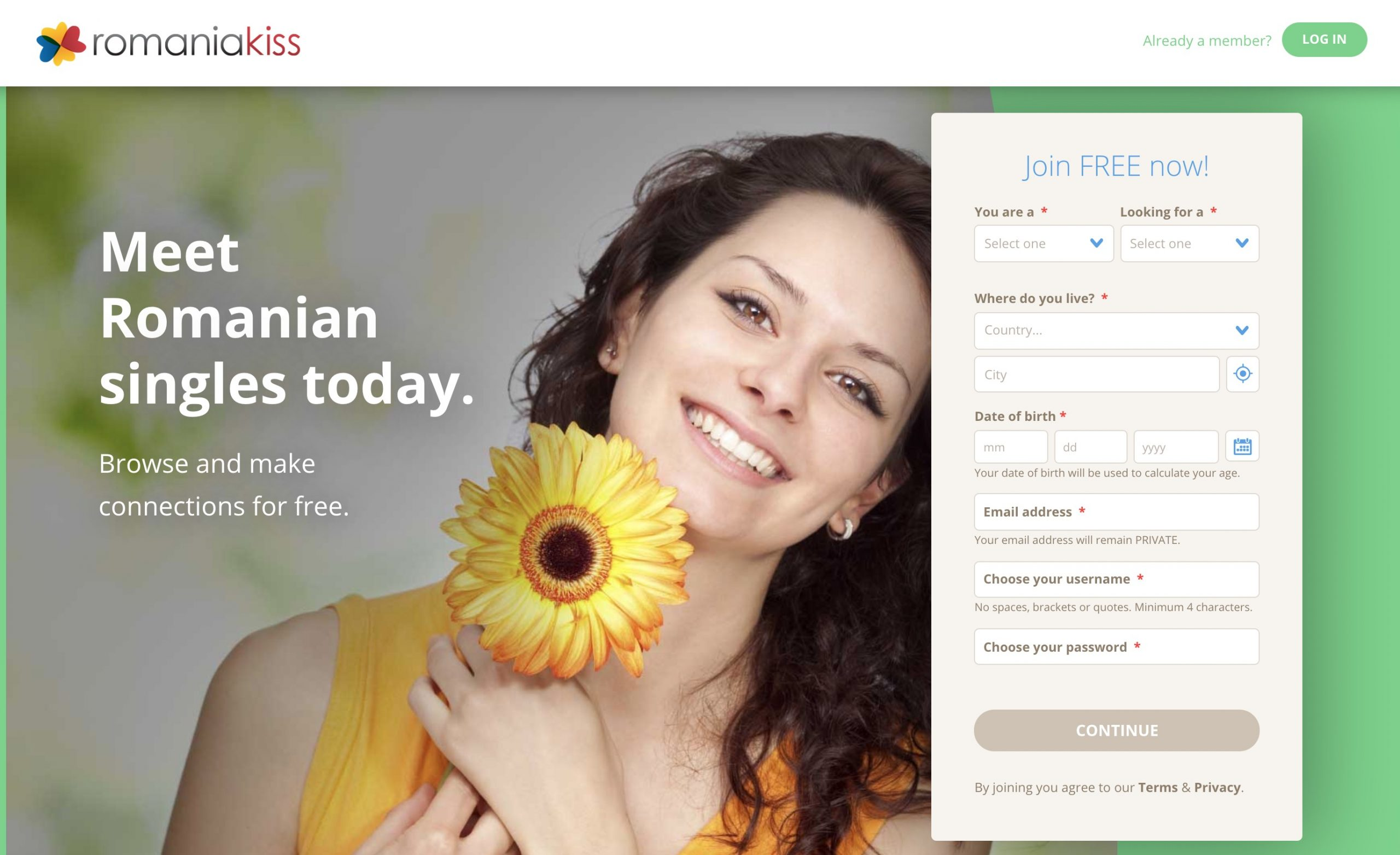 RomaniaKiss main page