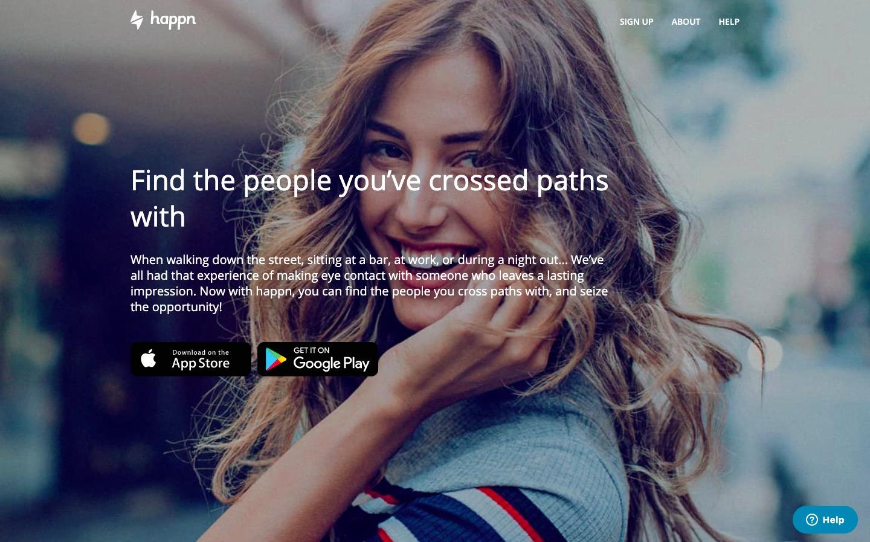 Happn main page